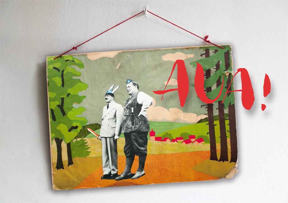 """Dominik Karle """"Wald und Wiesenexkursion"""", 2012 , 60 x 45 cm, Collage aus Fundstücken"""