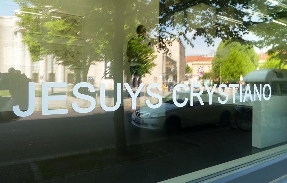 Besuch JESUYS CRYSTIANO in der Galerie Delmes & Zander