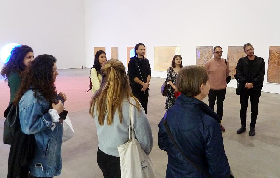 Visit to PAMELA ROSENKRANZ, LUCY DODD & OTTO PIENE at Sprüth Magers
