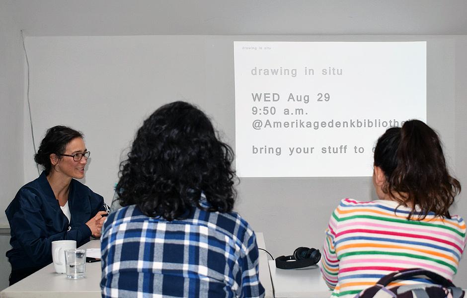 Seminar ZEICHNUNG IN SITU von Nadine Fecht