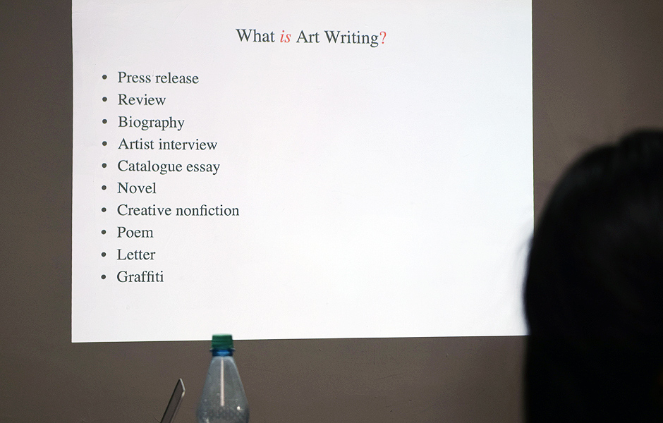 Seminar CRITICALLY CREATIVE: WRITING ART von Louisa Elderton