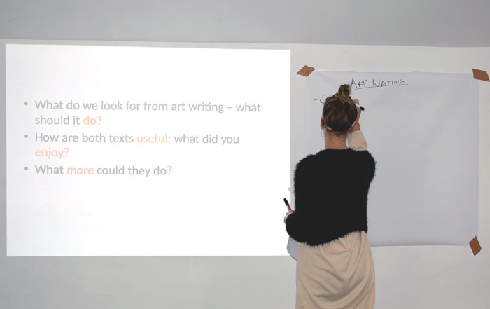 Seminar CRITICALLY CREATIVE: WRITING ART by Louisa Elderton
