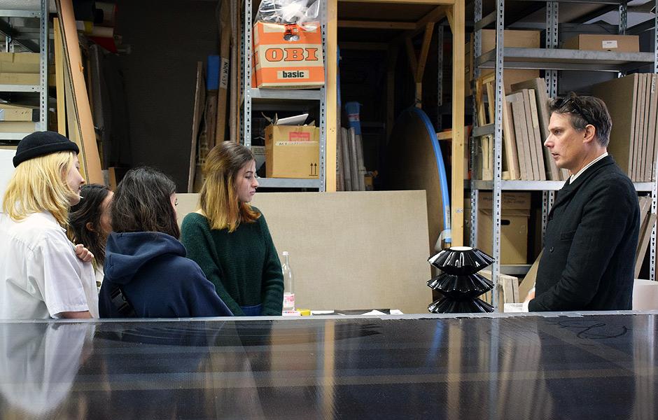 Studio Visit to PROF. GREGOR HILDEBRANDT