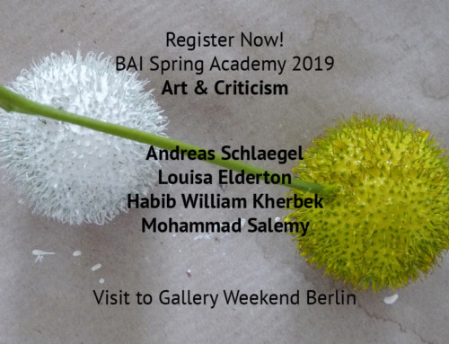 Register Now ! BAI SPRING ACADEMY & GALLERY WEEKEND BERLIN 2019