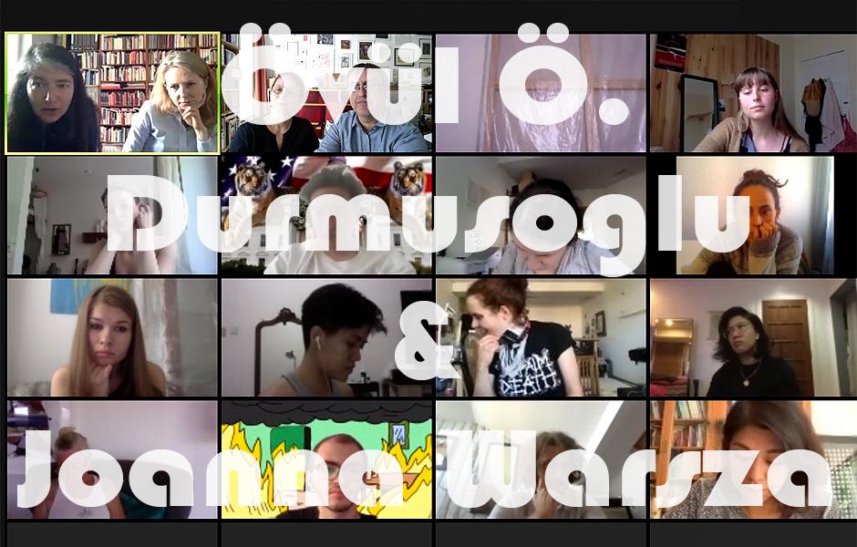 Online Vortrag TOGETHERNESS IN EXPERIMENT, #DieBalkone von Övül Durmusoglu & Joanna Warsza