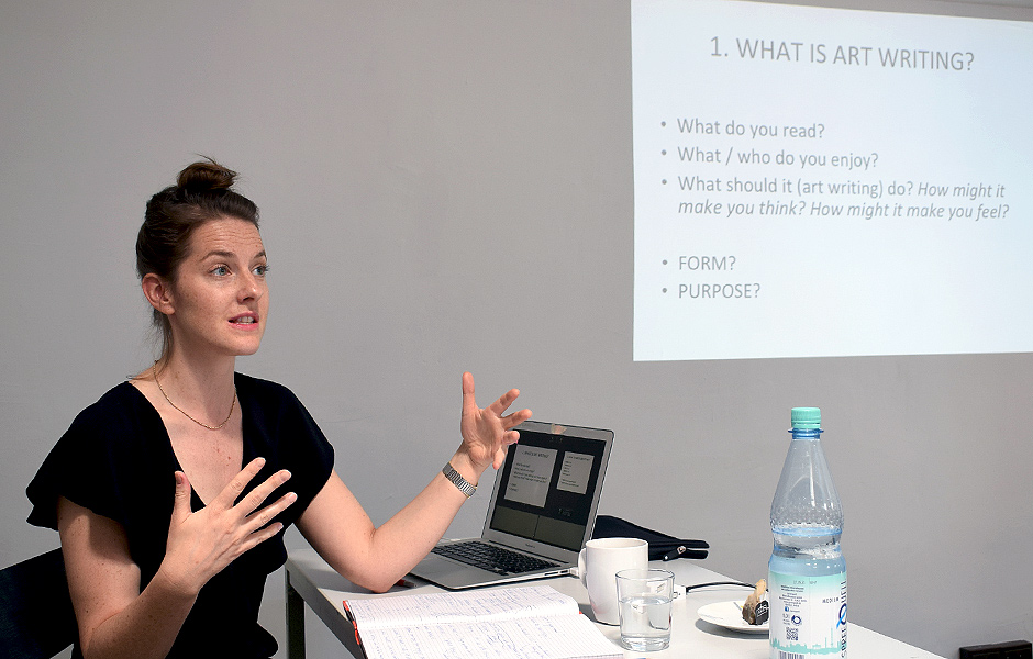 Seminar ART WRITING AS PRACTICE von Louisa Elderton